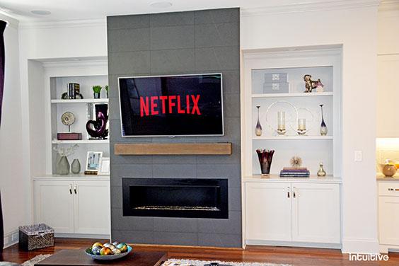 photo of flat panel tv