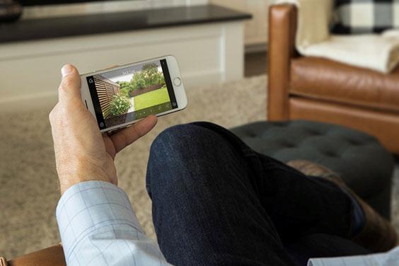 viewing camera through smart phone