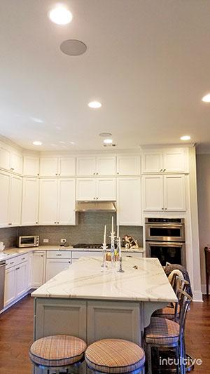 photo of in-ceiling speakers