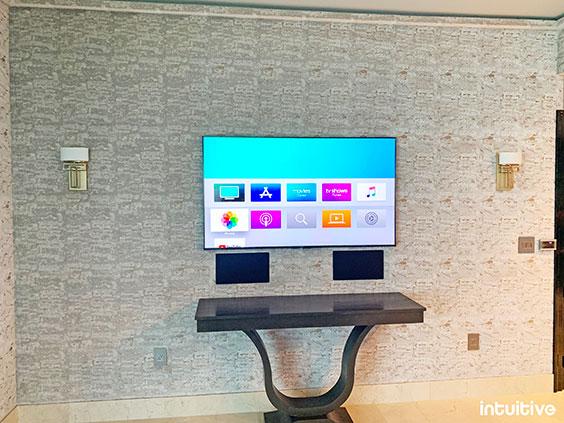 photo of recessed tv mount